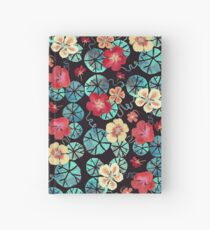 Watercolor Nasturtiums: In the Still of the Night Hardcover Journal