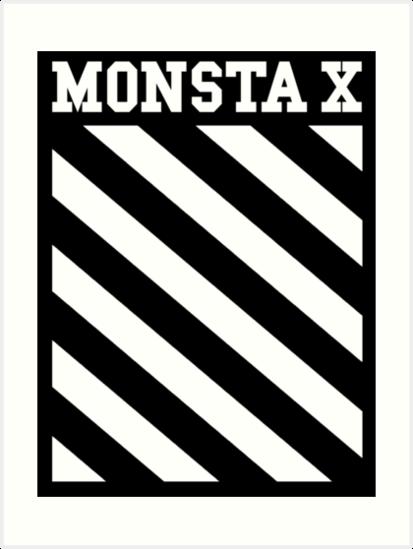 Monsta X Off-White Inspired Logo by PaolaAzeneth
