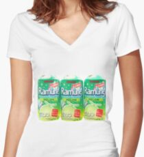 Ramune Japanese soda Women's Fitted V-Neck T-Shirt