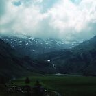 Plains between Titlis and Lake Trubsee Switzerland 19840815 0055  by Fred Mitchell
