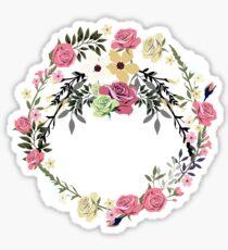 Bouquet of Vintage Rose - wreath Sticker