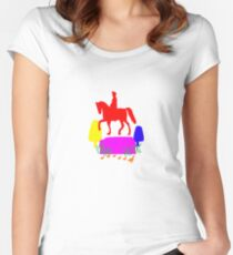Boston Pride - Celebrate Gay Pride - History and Rainbows Women's Fitted Scoop T-Shirt