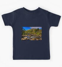 Rocks at Dochart Falls Kids Tee