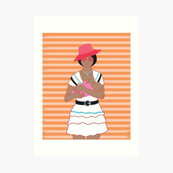 Trendy Mom 3 Art Print