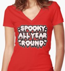 Spooky All Year Round - Goth Women's Fitted V-Neck T-Shirt