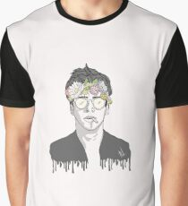 Young Robert Downey Jr w/ Flower Crown Graphic T-Shirt