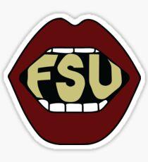 FSU Lips Sticker