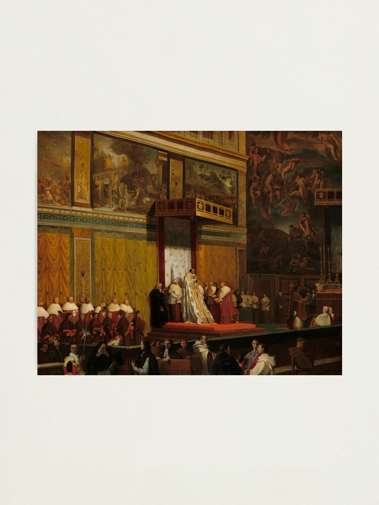 Alternate view of Pope Pius VII in the Sistine Chapel Oil Painting by Jean-Auguste-Dominique Ingres Photographic Print