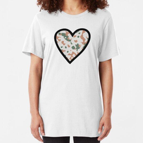 Camo Heart A Slim Fit T-Shirt