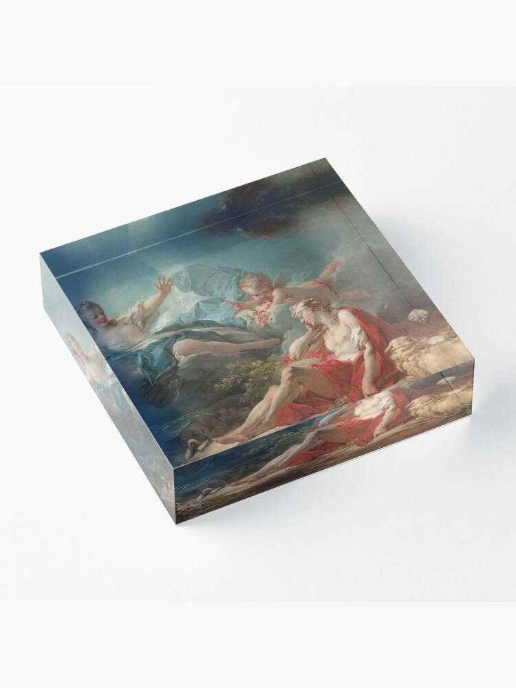 Alternate view of Diana and Endymion Oil Painting by Jean-Honoré Fragonard Acrylic Block