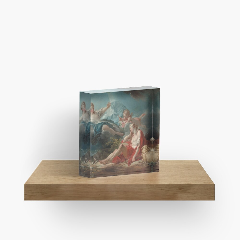 Diana and Endymion Oil Painting by Jean-Honoré Fragonard Acrylic Block