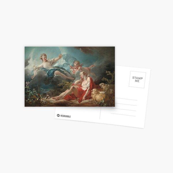 Diana and Endymion Oil Painting by Jean-Honoré Fragonard Postcard