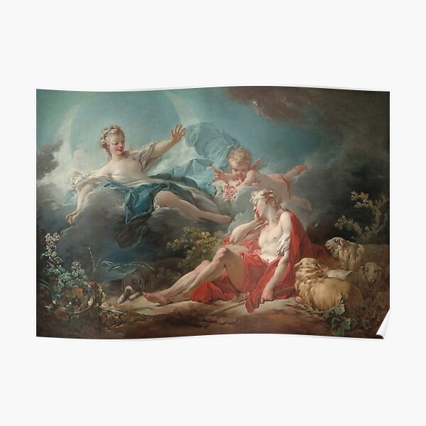 Diana and Endymion Oil Painting by Jean-Honoré Fragonard Poster