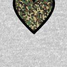 Camo Heart C by HandDrawnTees