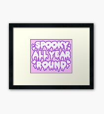 Spooky All Year Round - Pastel Goth Framed Print