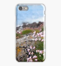 pink coastal wildflowers iPhone Case/Skin