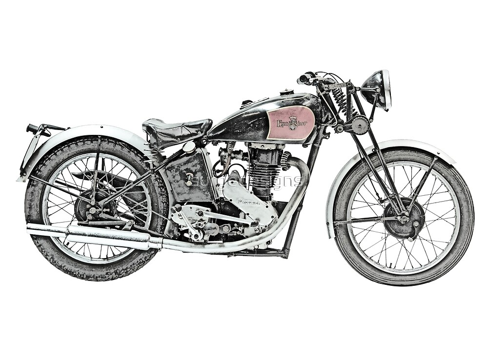 1938 EXCELSIOR WARRIOR Motorcycle by surgedesigns