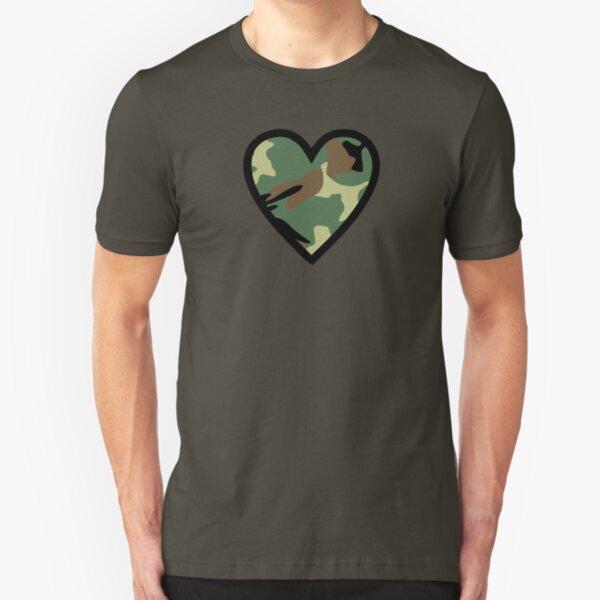 Camo Heart F Slim Fit T-Shirt