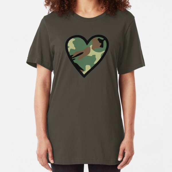 Camo Heart F Slim Fit T-Shirt