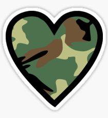 Camo Heart F Sticker