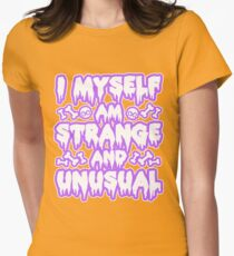 Strange and Unusual - Pastel Goth Womens Fitted T-Shirt