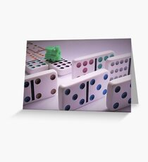 Trouble on the Mexican Train Greeting Card