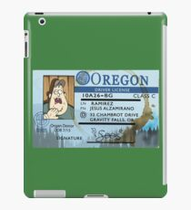 Gravity Falls Soos' Drivers License Sticker iPad Case/Skin
