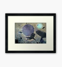 photocomposition under the sea Framed Print