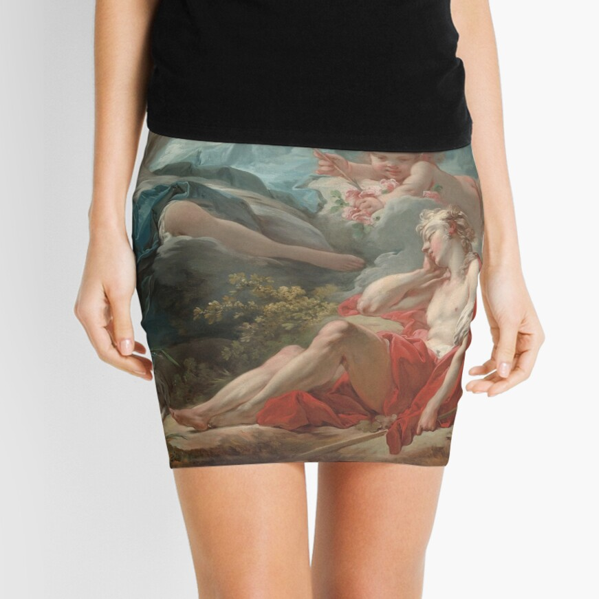 Diana and Endymion Oil Painting by Jean-Honoré Fragonard Mini Skirt