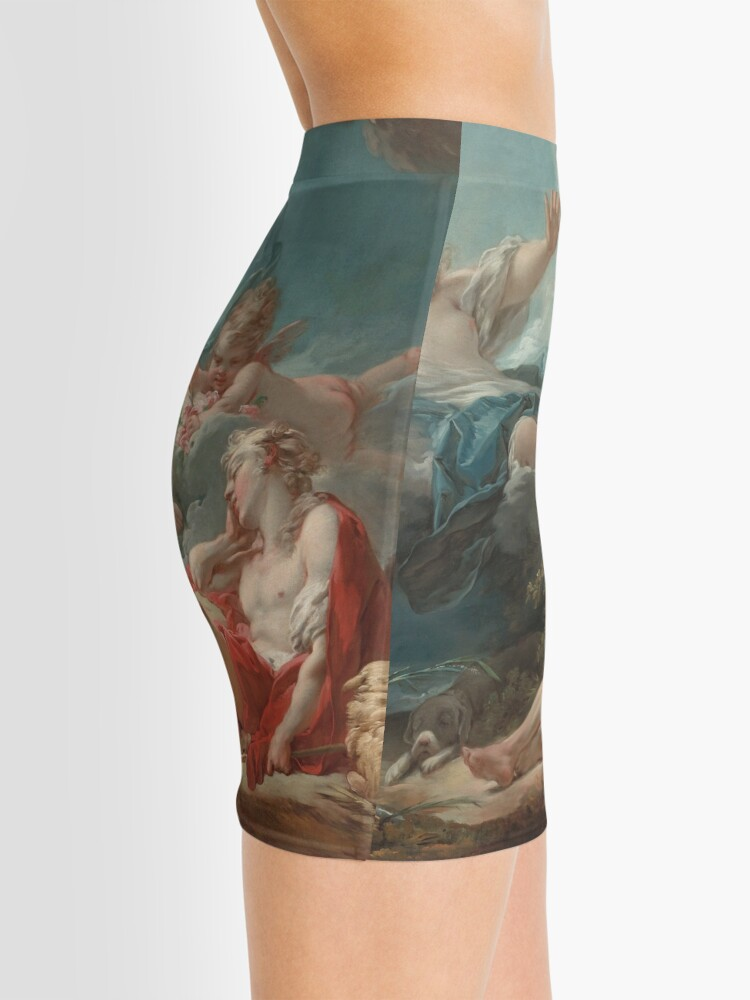 Alternate view of Diana and Endymion Oil Painting by Jean-Honoré Fragonard Mini Skirt