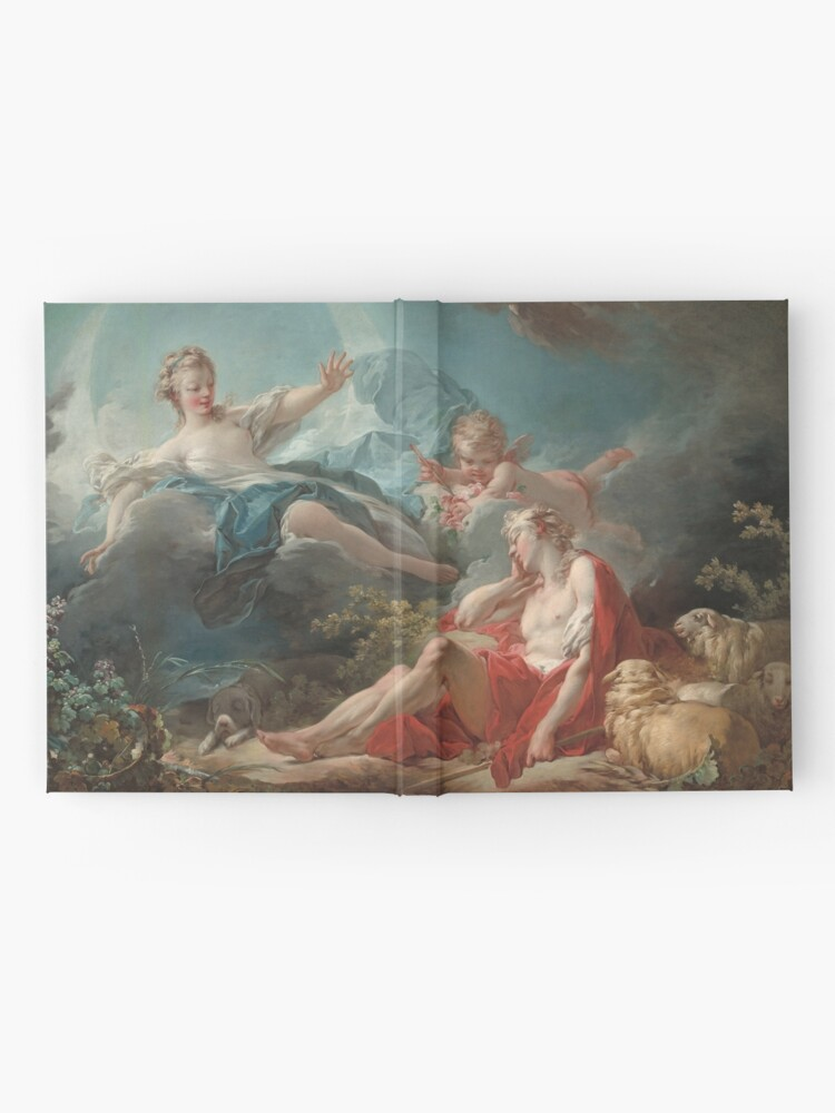 Alternate view of Diana and Endymion Oil Painting by Jean-Honoré Fragonard Hardcover Journal