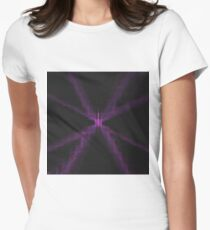 Electric Nerves | Fractal Art Womens Fitted T-Shirt