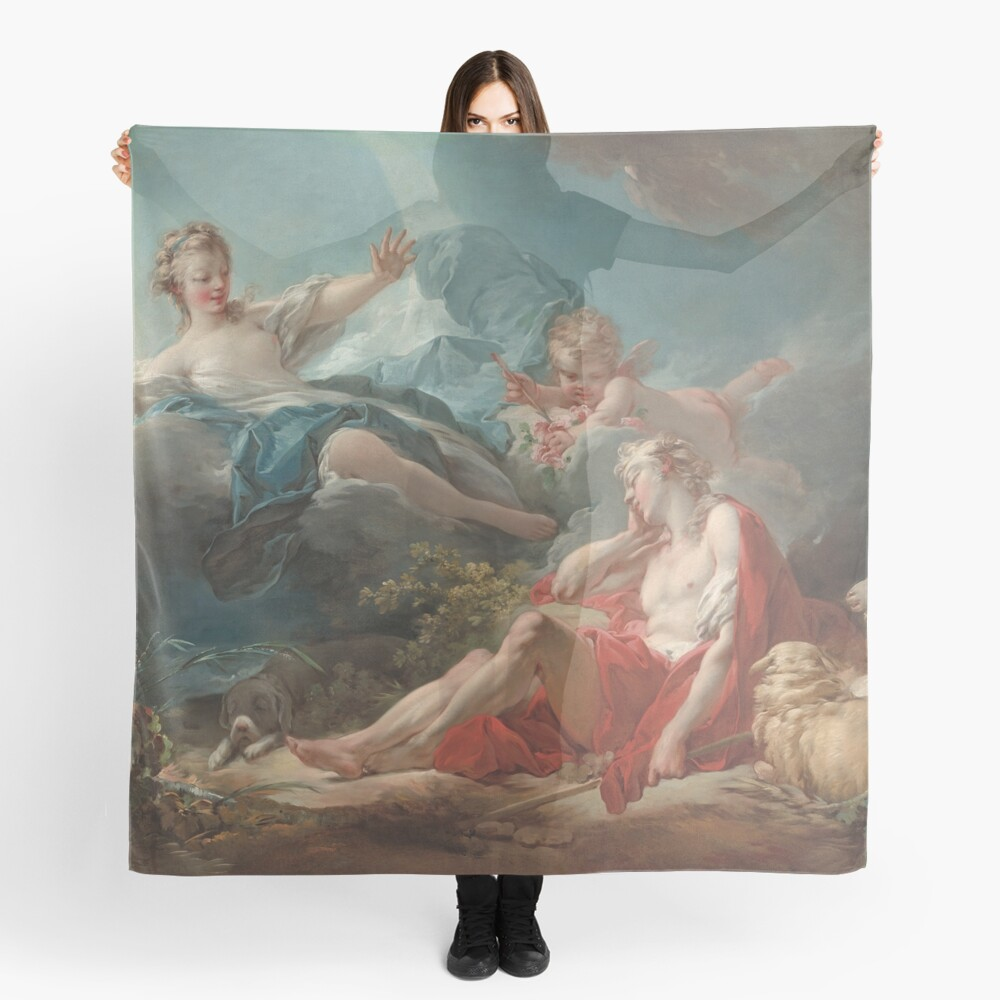 Diana and Endymion Oil Painting by Jean-Honoré Fragonard Scarf