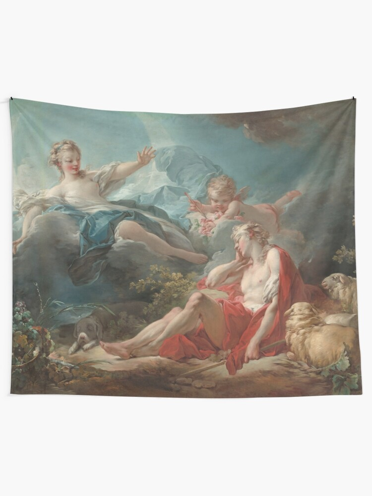 Alternate view of Diana and Endymion Oil Painting by Jean-Honoré Fragonard Tapestry