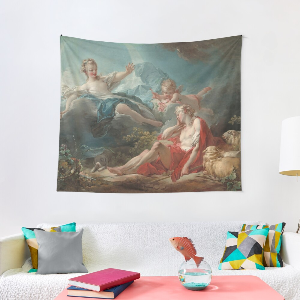 Diana and Endymion Oil Painting by Jean-Honoré Fragonard Tapestry
