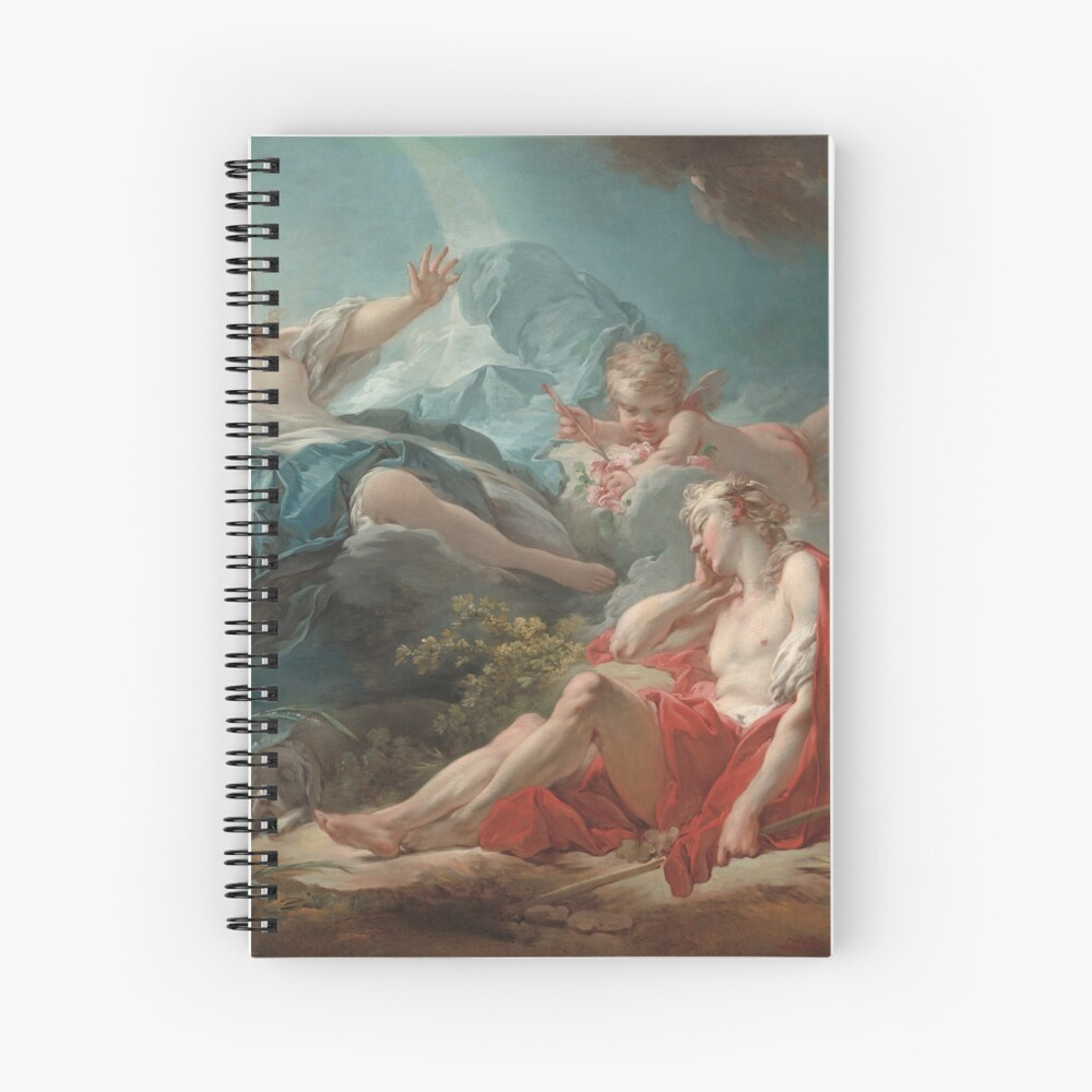 Diana and Endymion Oil Painting by Jean-Honoré Fragonard Spiral Notebook