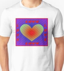 LOVE: Abstract Whimsical Heart Print Unisex T-Shirt