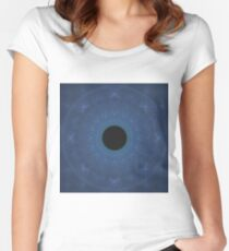 Eye of the White Tiger | Fractal Art Women's Fitted Scoop T-Shirt