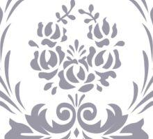 Rosenbouquet Grau Sticker