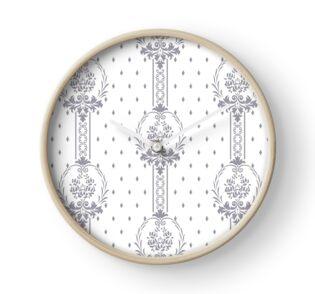 Rosenbouquet Grau Uhr