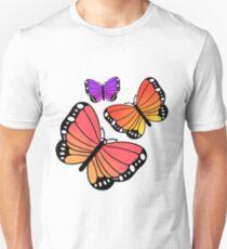 Gradient Butterflies Unisex T-Shirt