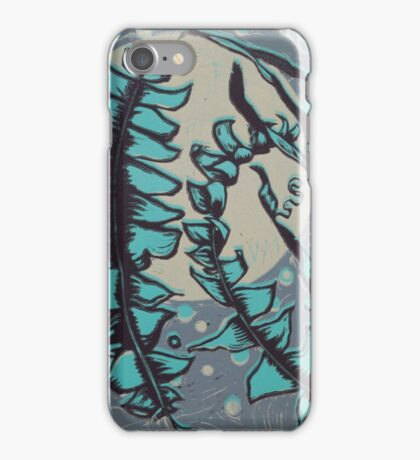 Linocut Banksia Leaves iPhone Case/Skin