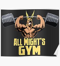 All Might's Gym Poster