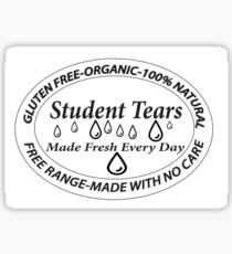 Student Tears Sticker