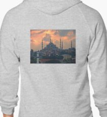 The Blue Mosque, Istanbul Zipped Hoodie