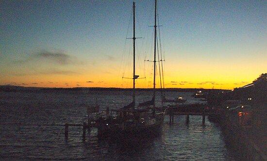 docked at Strahan amidst the splendour of the sunset by gaylene