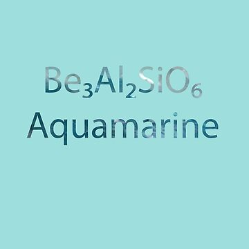 SU: Aquamarine Chemical Formula by TheVioletWitch