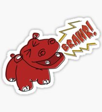Angry Hippo Sticker
