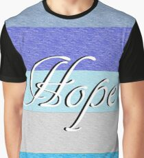HOPE on Blue Graphic T-Shirt