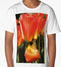Drooping Tulip Petal Long T-Shirt